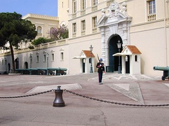 Palace guard in Monaco