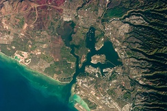 Astronaut photograph of Pearl Harbor from October 2009