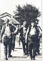 Idriz Seferi with his rebels entering Ferizaj in 1910