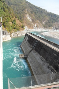 Middle Marsyangdi Hydroelectric Dam. Nepal has significant potential to generate hydropower, which it plans to export across South Asia