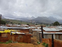 Shacks in Kayamandi, South Africa