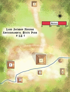 Diagram of mounds at site