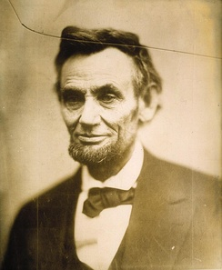 "The ""cracked-plate"" portrait of Abraham Lincoln, acquired by the NPG as part of the Alexander Gardner Collection."