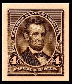 Abraham LincolnDie proof of 1890 issue