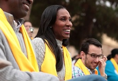 Leslie at an event hosted by National School Choice Week in Phoenix, Arizona.