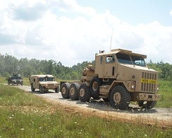 The 8×8 tractor unit of the HETS heavy equipment transport system