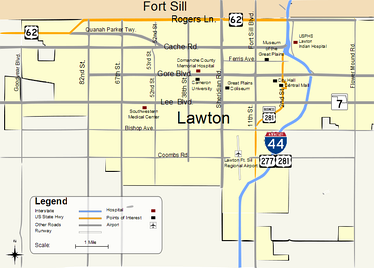 Map of Lawton
