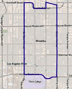 Winnetka as mapped by the Los Angeles Times