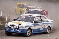 Martin Schanche (N) and his Ford Escort XR3 T16 4 x 4, Lydden 1984