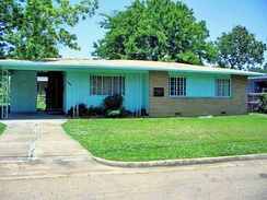 The Evers' house at 2332 Margaret Walker Alexander Drive, where Medgar Evers was fatally shot after getting out of his car[27]