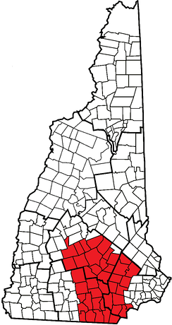 Towns in the Merrimack Valley of New Hampshire