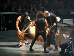 Metallica performing during its World Magnetic Tour in 2009