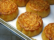Mooncakes, often eaten during the Mid-Autumn festival