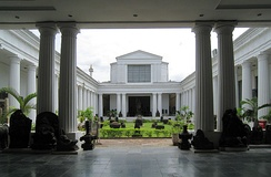 The Peristylia hall in National Museum of Indonesia in Jakarta, the largest and one of the oldest museum in Indonesia.