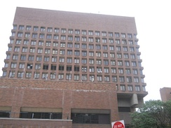 One Police Plaza, headquarters of the New York City Police Department in Lower Manhattan.