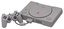 The original PlayStation model with the DualShock controller