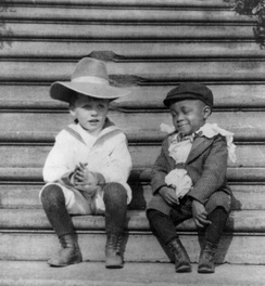 "Quentin Roosevelt and Roswell Pinckney, members of the ""White House Gang"" of young playmates.  Theodore Roosevelt was an honorary member."