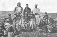 Samaritans, from a photo c. 1900 by the Palestine Exploration Fund.