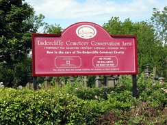 Undercliffe Cemetery Conservation Area signage