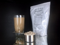 Meal replacements often come in liquid form, but there also are meals and powdered drinks such as Soylent.