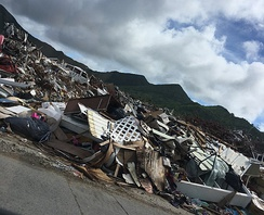 Ground view of Hurricane Irma's damage