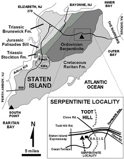 The geology of Staten Island.
