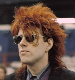 Tom Bailey of the Thompson Twins, 1986