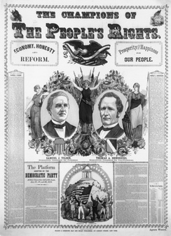 Campaign poster for the election of 1876