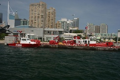 Toronto fire boats and police marine unit