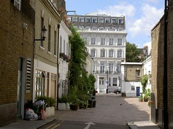 A typical mews in the Royal Borough of Kensington and Chelsea