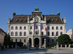 The main building of the University of Ljubljana, formerly the seat of the Carniolan Parliament