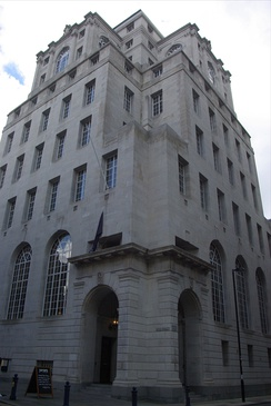 100 King Street, Manchester was constructed in 1935, and granted Grade II* listed building status in 1974.