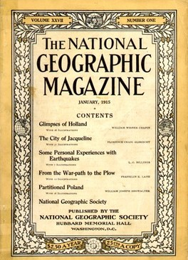 January 1915 cover of The National Geographic Magazine