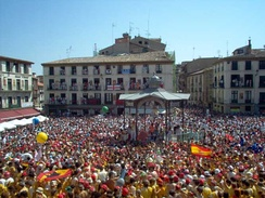 Fiestas in the Plaza Nueva or Plaza de los Fueros