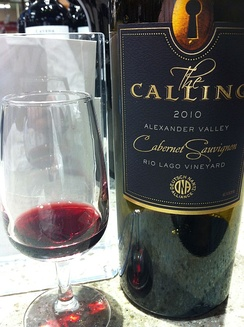 Cabernet Sauvignon from the Alexander Valley produced for Nantz's The Calling label.