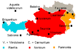 Римские провинции и города на территории Австрии