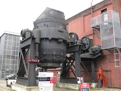 Sir Henry Bessemer's Bessemer converter, the most important technique for making steel from the 1850s to the 1950s. Located in Sheffield (Steel City)