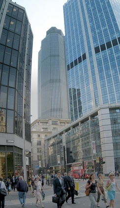 Bishopsgate in the City of London