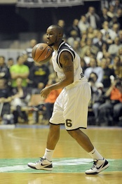 Bo McCalebb was Partizan's starting point guard during the 2009–10 season.