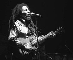 Bob Marley, the most famous reggae artist from Jamaica