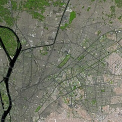 Cairo seen from Spot Satellite