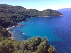 Maremma encapsulates the most visited seaside destinations in Tuscany. Above, the Tuscan littoral of Monte Argentario