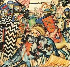 A battle of the Reconquista from the Cantigas de Santa Maria