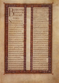 Page from the Lorsch Gospels of Charlemagne's reign