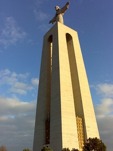 Lateral view of Christ the King, Almada.
