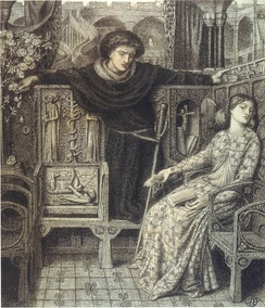 Hamlet and Ophelia, by Dante Gabriel Rossetti