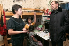 Russian President Medvedev in the Sakha Republic in 2011