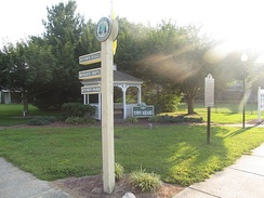 The Ellendale Town Square where town notices are posted.