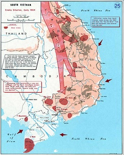 Situation of the Communist forces in South Vietnam in early 1964