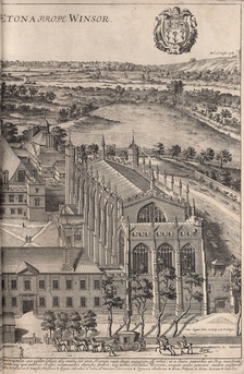 Eton College in 1690, in an engraving by David Loggan
